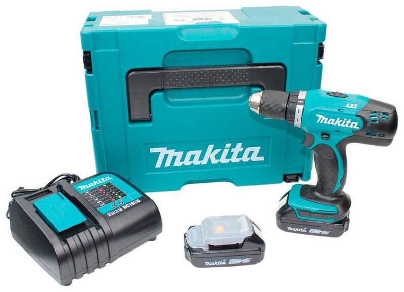 Makita Akku-Bohrschrauber »DDF453SYJ«, max. 1300 U/min, (Set, 5-tlg), 18 V, inkl. 2 Akkus, Ladegerät und MAKPAC Gr.2