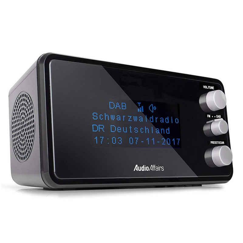 AudioAffairs »Uhrenradio DAB BK« Radiowecker (Digitalradio (DAB), Digitaler Radiowecker mit zwei Weckzeiten, Uhrenradio mit UKW)