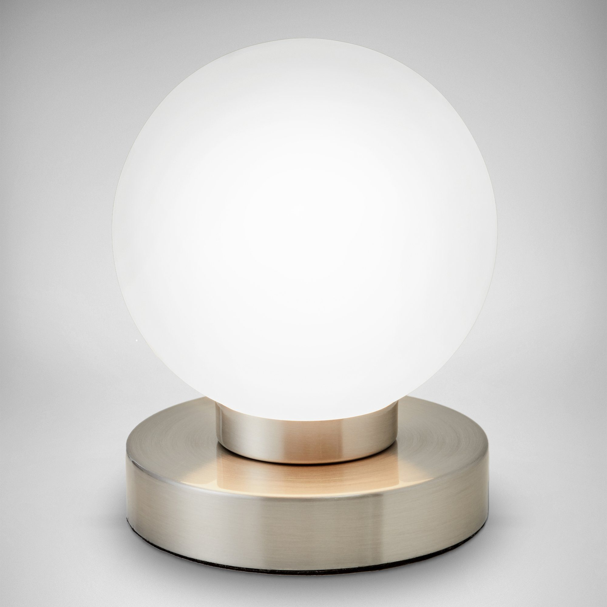 LED Tischleuchte Antik Touch Ein//Aus Tischlampe Nachttisch Glas Alabaster