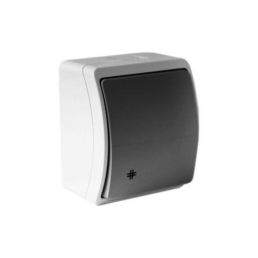 Doktorvolt Lichtschalter »Aufputz Wandschalter Kreuzschalter Wechselchalter grau/anthrazit IP44 Aussenbereich«