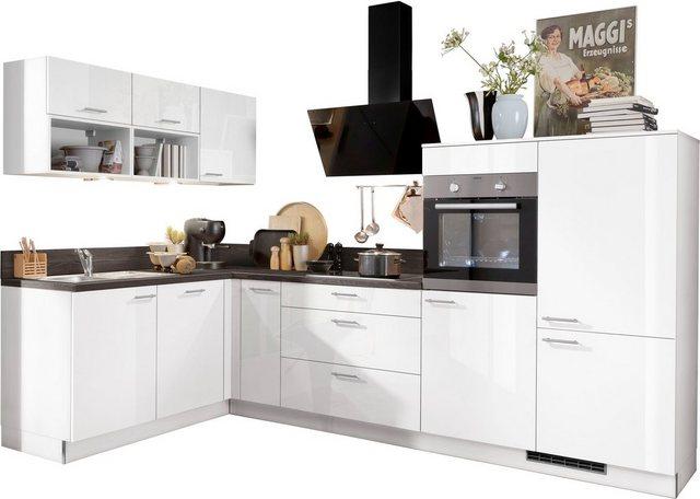 Einbauküchen - Express Küchen Winkelküche »Scafa«, ohne E Geräte, vormontiert und mit Soft Close Funktion, Stellbreite 305 x 185 cm  - Onlineshop OTTO