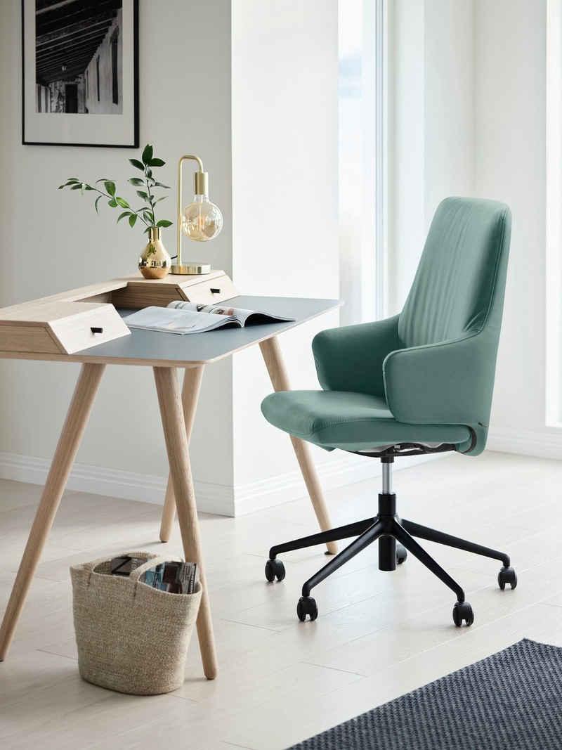 Stressless® Schreibtischstuhl »Laurel«, High Back mit Armlehne, Größe L, mit Home Office Gestell in Schwarz matt