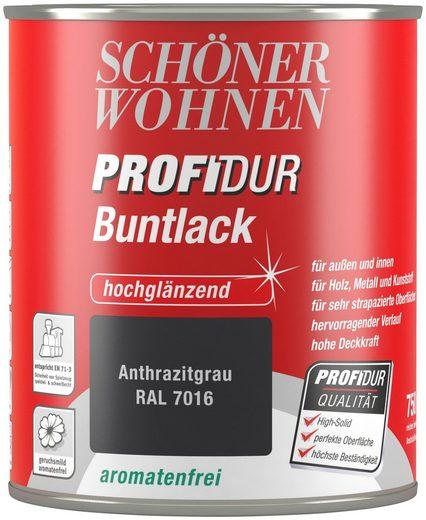 Schöner Wohnen Farbe Buntlack »ProfiDur seidenmatt, 750 ml anthrazitgrau«