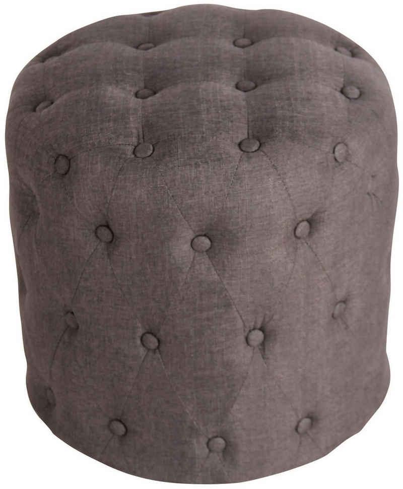 CLP Sitzhocker »Lille«, mit Zierknöpfen