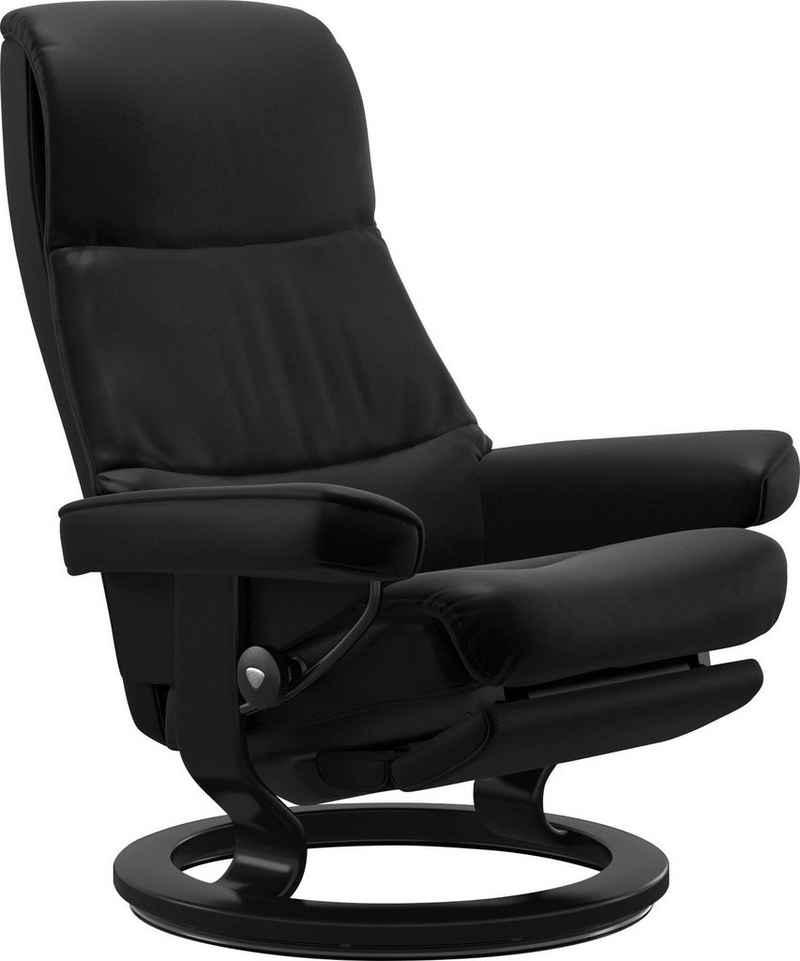 Stressless® Relaxsessel »View«, mit Classic Base und Power™, elektrisch verstellbar, optional 2-motorisch, Größe M & L, Gestell Schwarz