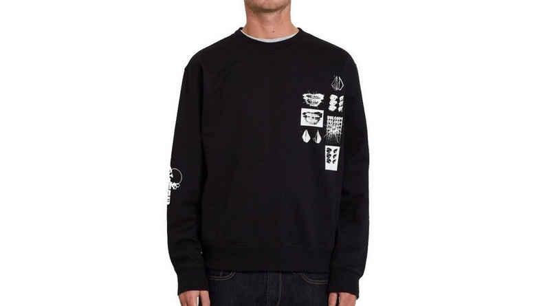 Volcom Sweater »Volcom Sweatshirt Catch 91 Crew Fleece schwarz«