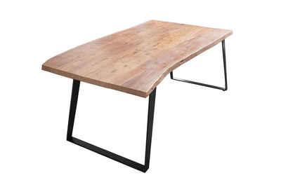 SAM® Esstisch »Bocas«, Akazie Massivholz naturfarben 26mm natürliche Baumkante