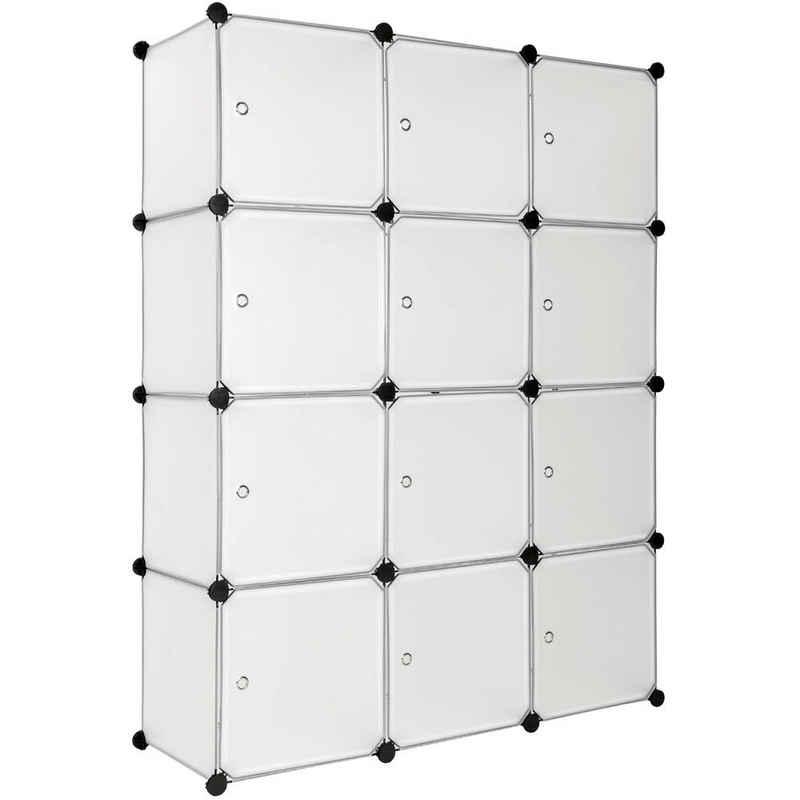 tectake Regalwürfel »Steckregal 12 Boxen mit Türen«, 1-tlg.