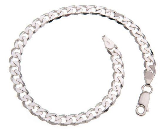 Silberkettenstore Silberarmband »Panzerkette Armband 5mm, 925 Silber, 16-25cm«