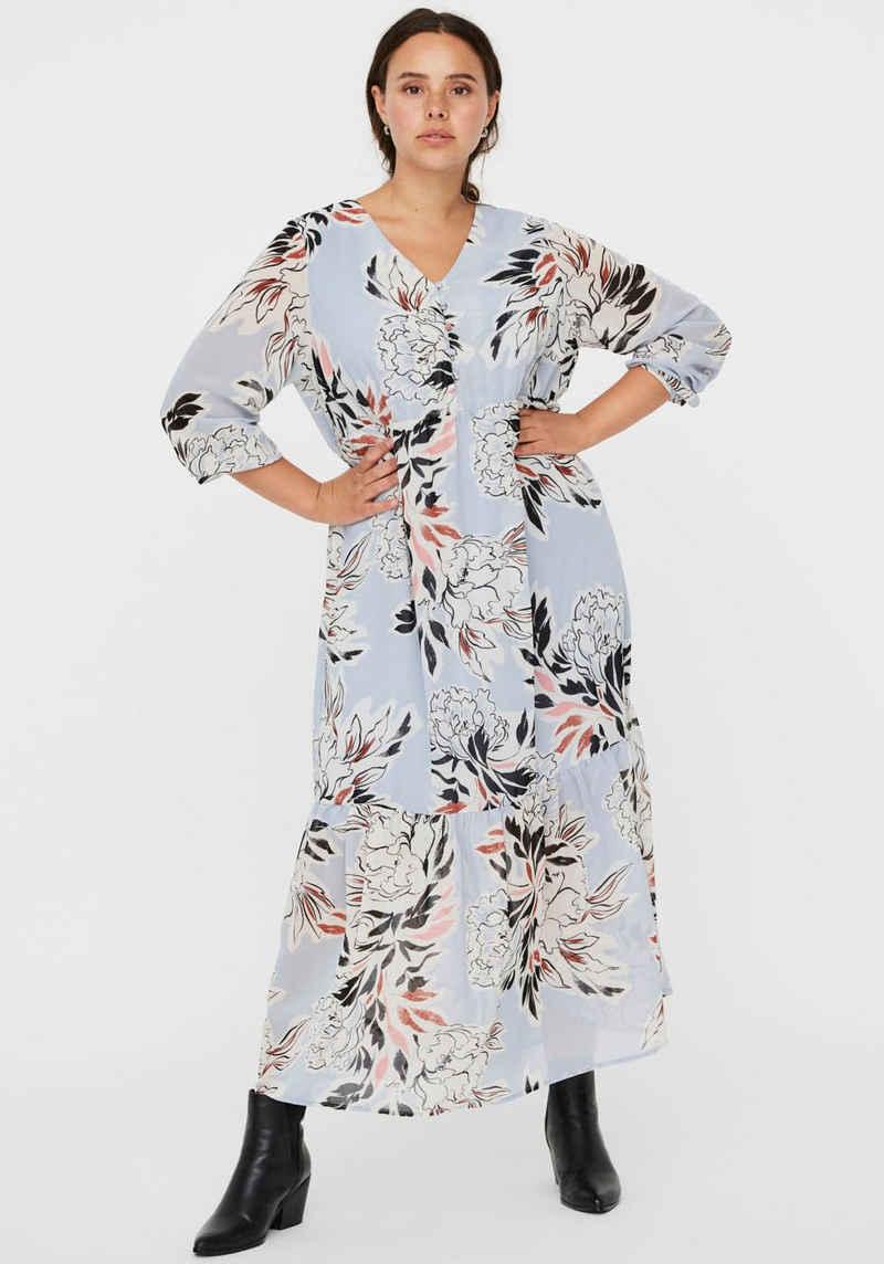 Vero Moda Curve Sommerkleid mit Knopfreihe und V-Ausschnitt
