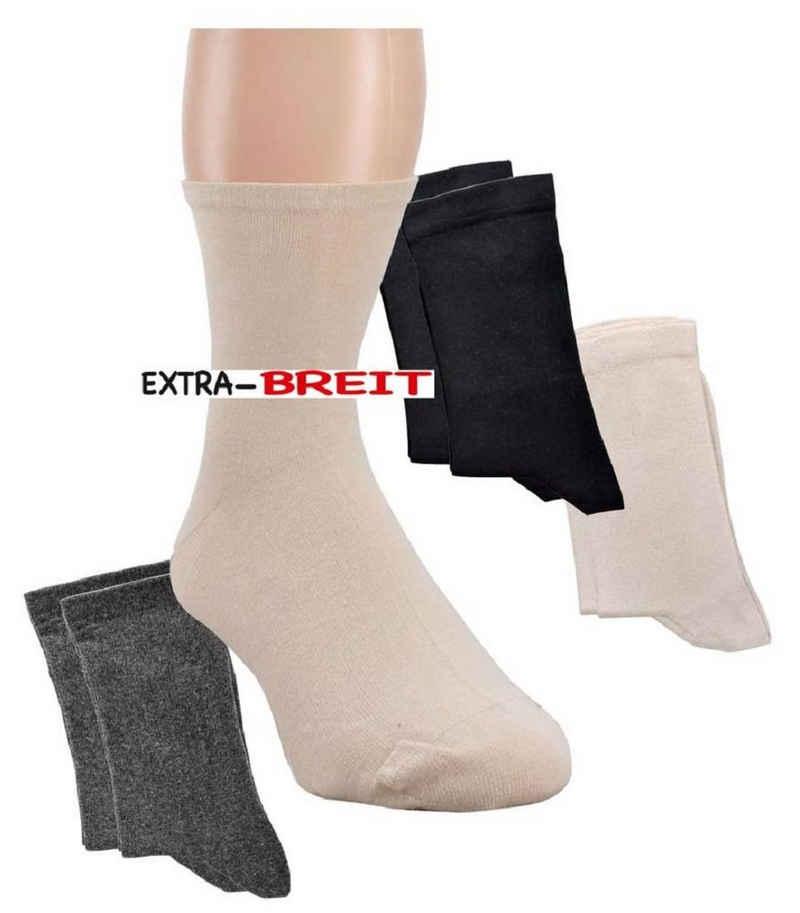 Socks 4 Fun Diabetikersocken »Wellness Socken Extra Breit Baumwolle 2 Paar« (2-Paar)