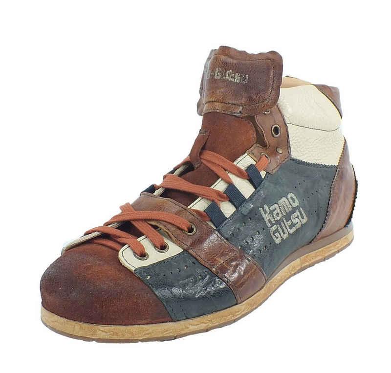 Kamo-Gutsu »Kamo-Gutsu Herren Leder Sneaker Caramel Notte« Sneaker Wechselfussbett