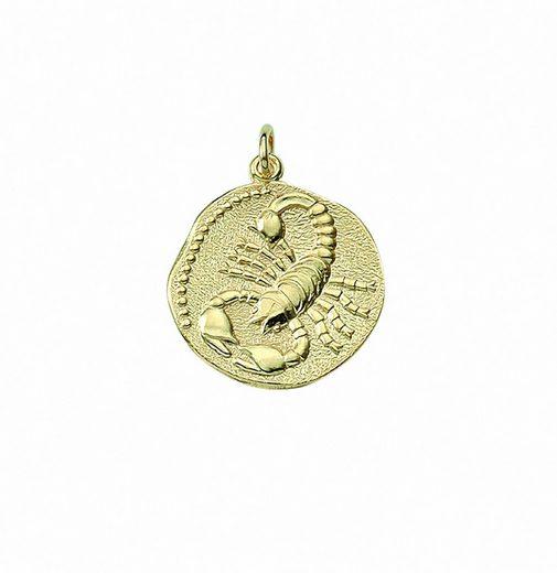 Adelia´s Kettenanhänger »333 Gold Sternzeichen Anhänger Skorpion Ø 18,2 mm«, 333 Gold Goldschmuck für Damen & Herren