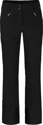 Bergson Skihose »SAIMAA« sportliche Damen Softshell Skihose, Kurzgrößen, schwarz