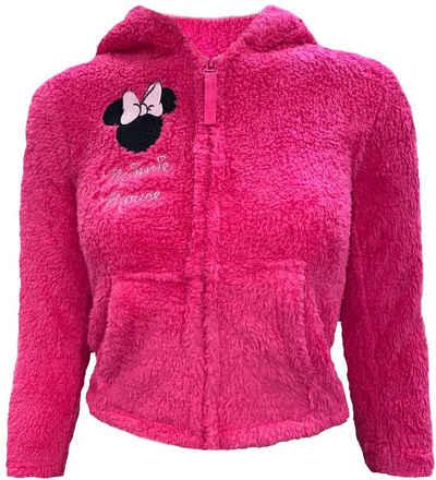 Disney Minnie Mouse Fleecejacke »Minnie Mouse Fleecejacke für Mädchen Gr 98 104 110 116 128 Jacke Warm + Weich Minni Maus Coral Fleece Kita + Schule«