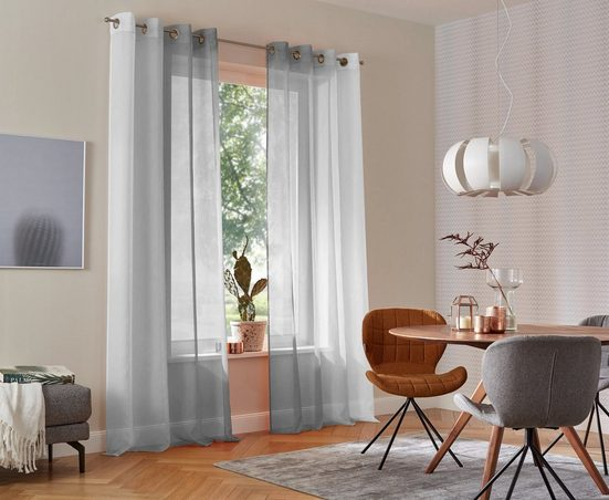 Gardine »Valverde«, my home, Ösen (2 Stück), Vorhang, Fertiggardine, transparent