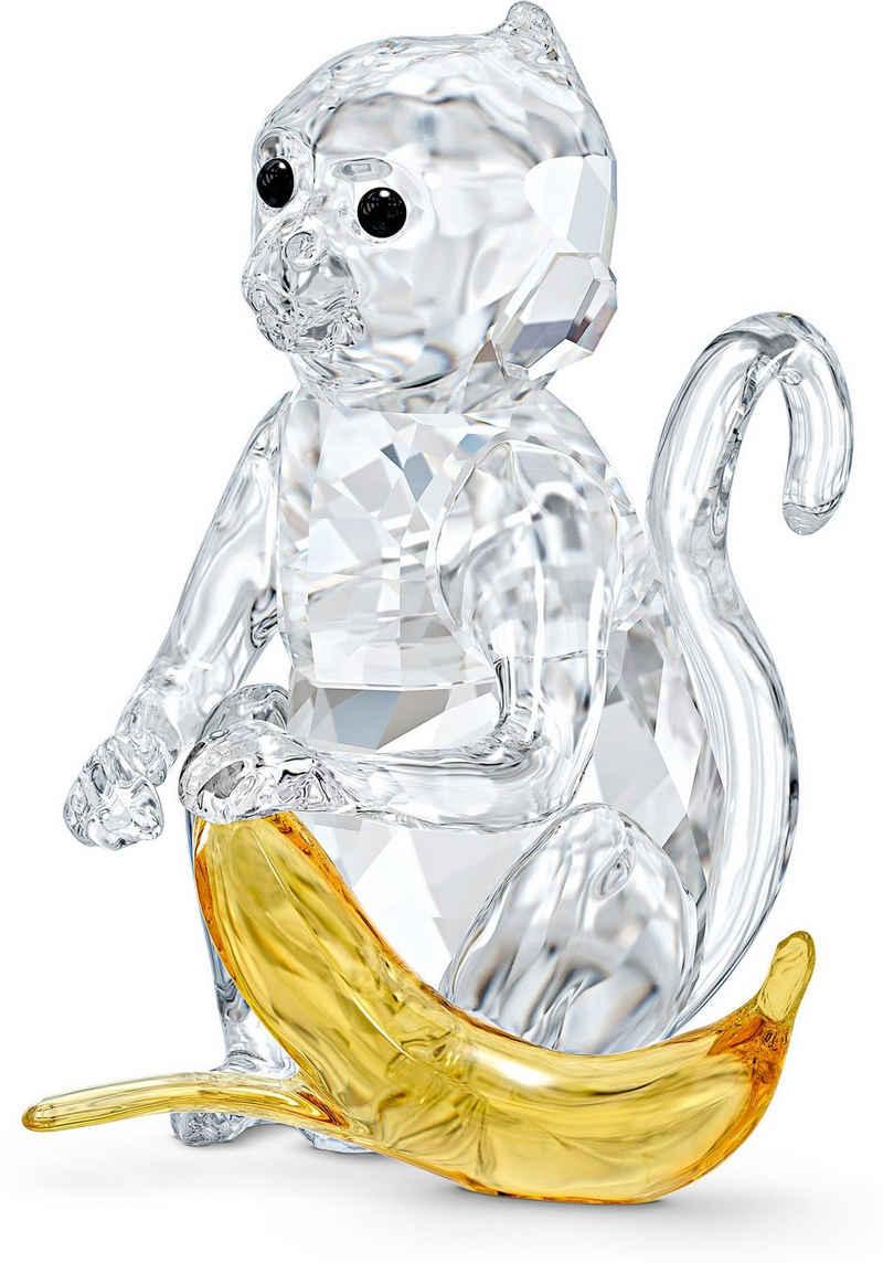 Swarovski Dekofigur »Affe mit Banane, 5524239« (1 Stück), Swarovski® Kristall mit schwarzem Emaille