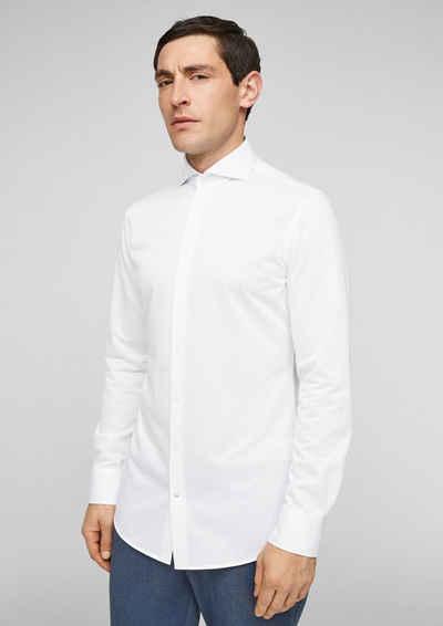 s.Oliver BLACK LABEL Langarmhemd »Slim Fit: Hemd aus Baumwolljersey«
