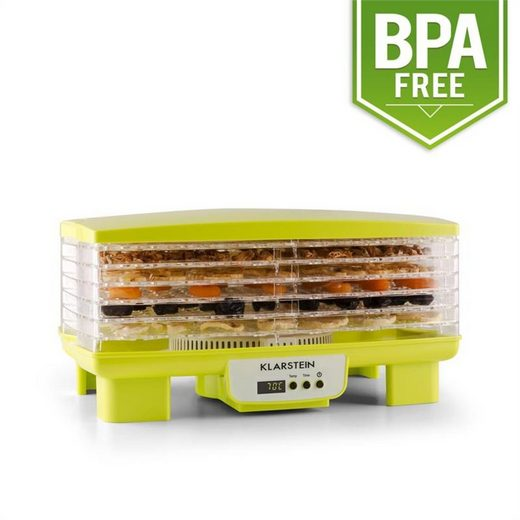 Klarstein Dörrautomat »Bananarama Dörrautomat grün 550W Trockner Dehydrator 6 Etagen« 550 W, 6 Etagen