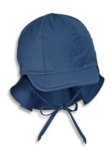 Sterntaler® Schirmmütze »Schirmmütze m. Nackenschutz« (1-St) aus UV-Popeline; mit Nackenschutz, versteckbaren Ohrenklappen und Bindeband