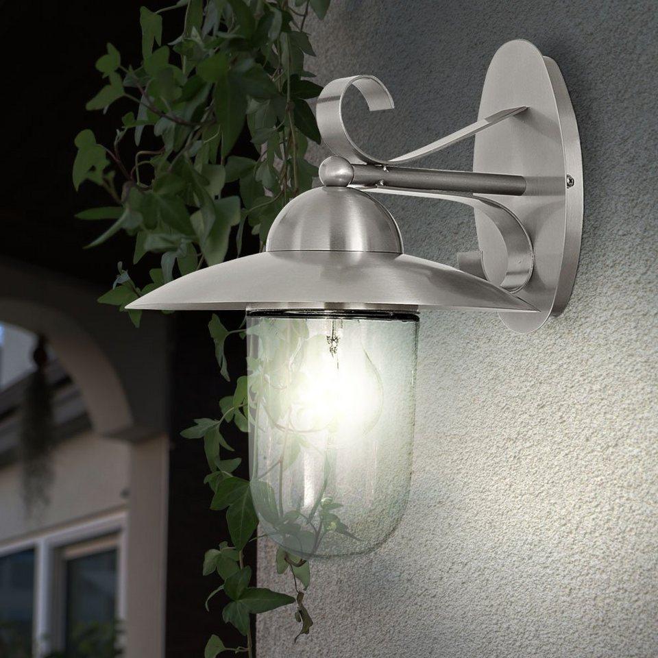 etc shop Gartenleuchte, Aussenwandleuchte Edelstahl Außenlampe ...
