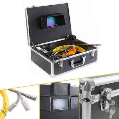 Arebos »Rohrkamera bis 30 m, mit USB Anschluss, IP68 Wasserdicht, 7 Zoll Farbmonitor, mit Fernbedienung, inkl. Transportkoffer« Inspektionskamera (60 min Videoaufnahme, integriertes Mikrophon, TFT Farbmonitor, SD-Speicherkarte, USB Stick, Kabellänge: 30 m, Aufnahmezeit: 7 Stunden, Koffergröße (LxBXH): 477x180x390 mm)