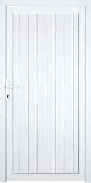 KM MEETH ZAUN GMBH Nebeneingangstür »K608P«| BxH: 98x198 cm| weiß| links | Baumarkt > Modernisieren und Baün > Türen | KM Zaun