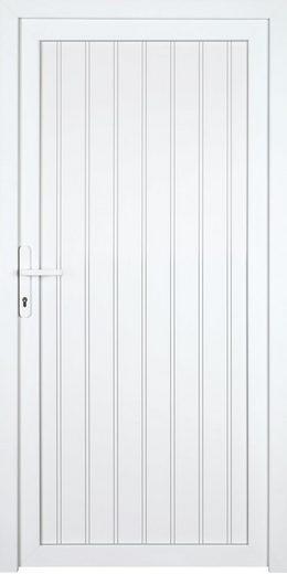 KM MEETH ZAUN GMBH Nebeneingangstür »K608P«, BxH: 98x198 cm, weiß, links