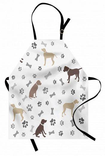 Abakuhaus Kochschürze »Höhenverstellbar Klare Farben ohne verblassen«, Hundeliebhaber Tatzen-Druck-und Knochen