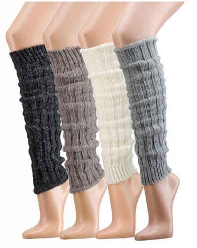 Socks 4 Fun Beinstulpen »Alpaka Wolle Stulpen Grobstrick« (Set, 1 Paar) mit viel Wolle