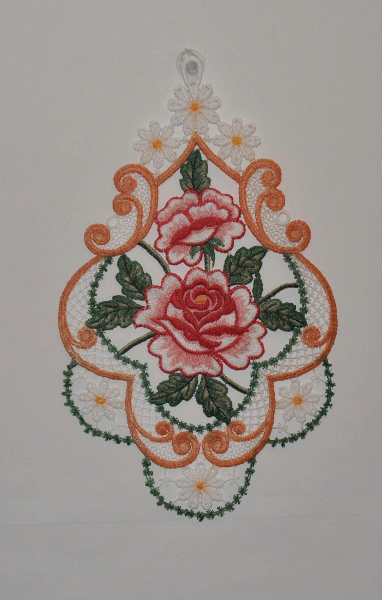 Motive Ein Paar von Schwarz oder Rot Naturweiss Kragen Spitze Applikationen
