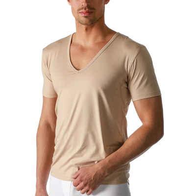 Mey Unterhemd »Dry Cotton T-Shirt mit V-Ausschnitt«, Einsätze unter den Achseln, Komfortschnitt mit extralangem Rücken, V-Auschnitt mit Halbarm