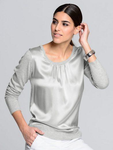 Alba Moda Pullover mit Einsatz aus edler Seide