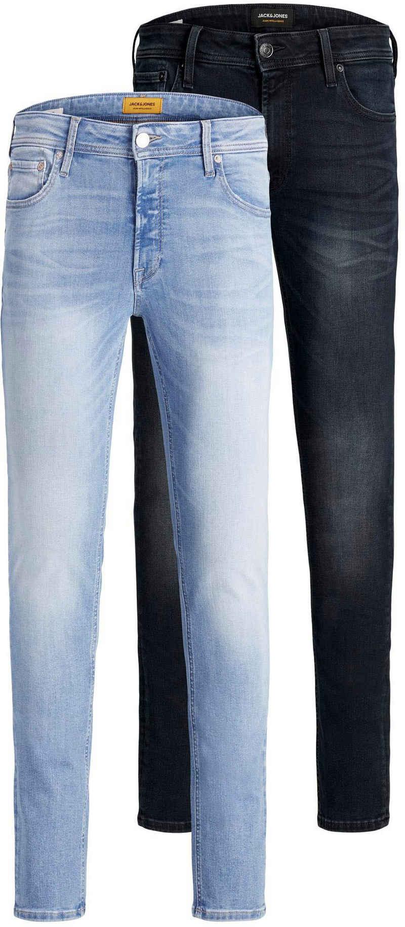Jack & Jones Skinny-fit-Jeans »LIAM ORIGINAL« (Packung, 2-tlg., 2er-Pack) 2er Packung