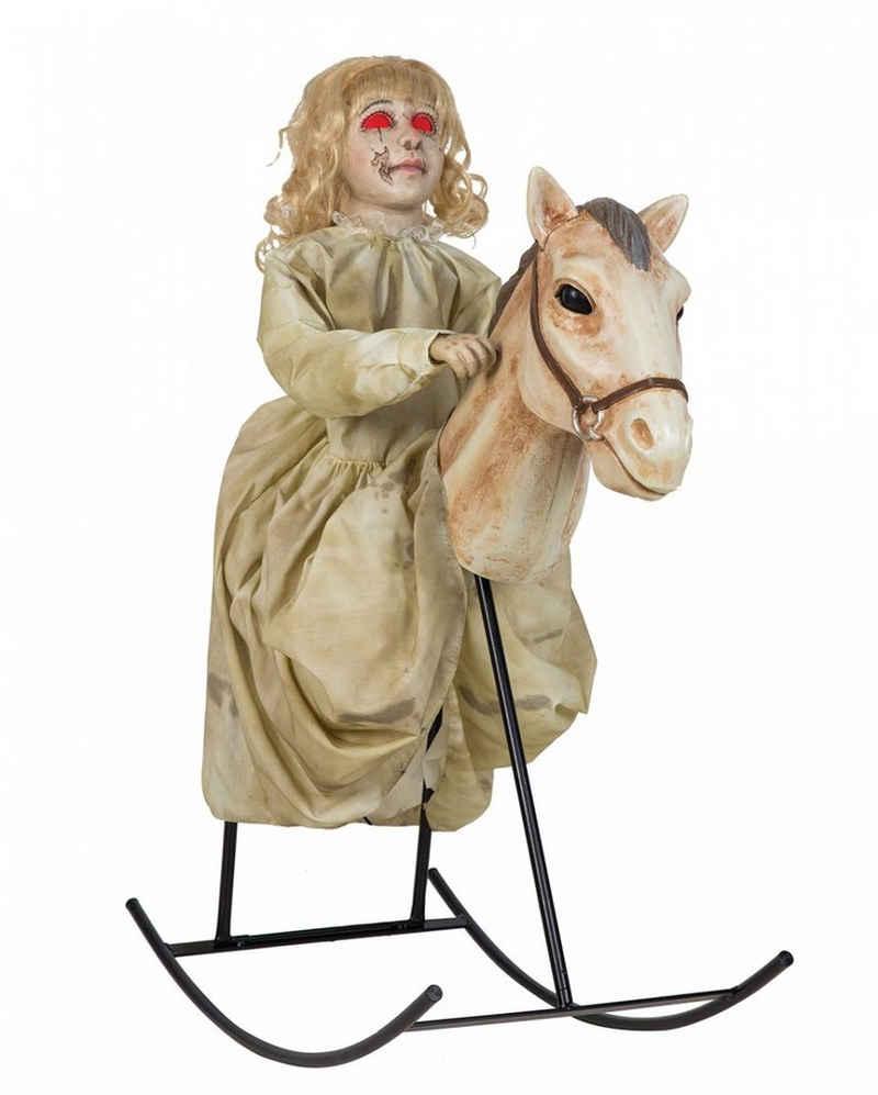 Horror-Shop Dekofigur »Schaukelndes Geistermädchen & Pferd Halloween Anim«