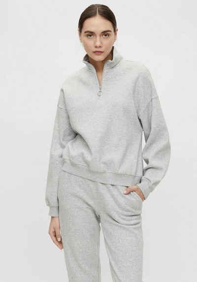 Object Sweatshirt »OBJKAISA« in trendy Troyer-Form