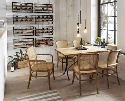 SIT Esszimmerstuhl, mit Wiener Geflecht, klassischer Bistrostuhl, Holzstuhl