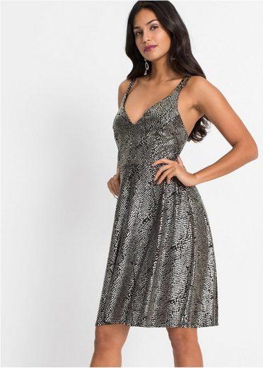 bonprix Minikleid »Kleid mit Glitzereffekt«