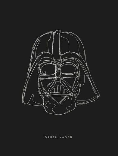 Komar Poster »Star Wars Lines Dark Side Vader«, Star Wars