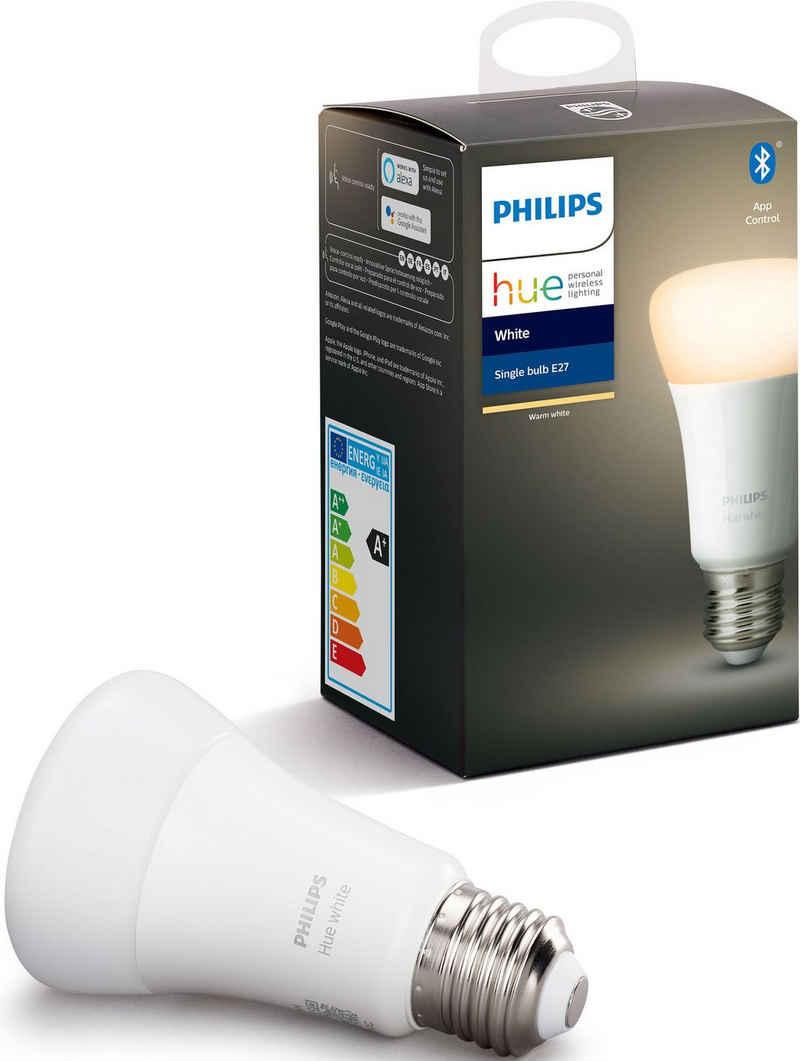 Philips Hue »White Einzelpack 1x 806 lm« LED-Leuchtmittel, E27, 1 Stück, Warmweiß