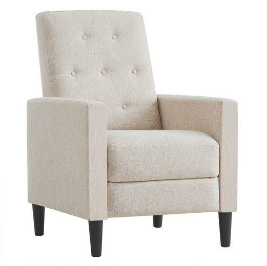 VASAGLE Relaxliege »LAC103G01 LAC103M01«, Schlafsessel, mit gepolstertem Sitz, verstellbare Fußstütze, altmodisch