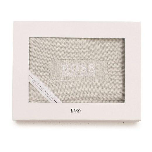 Babydecke »Hugo Boss Strickdecke«, Boss, sehr angenehmes Material