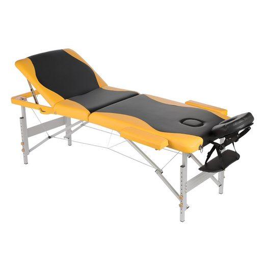Mucola Massageliege »Mobile 3 Zonen Massageliege Aluminium Therapieliege Massagetisch Massagebank«, leichtes faltbares ALU-Gestell, einfacher Transport, in der Höhe verstellbar