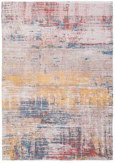 Teppich »STREAKS«, louis de poortere, rechteckig, Höhe 3 mm, Flachgewebe, modernes Design, 85% Baumwolle, Wohnzimmer