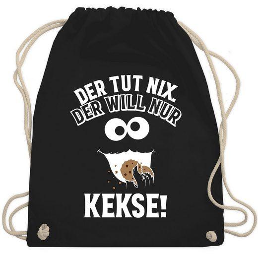 Shirtracer Turnbeutel »Der tut nix. Der will nur Kekse! - Turnbeutel«