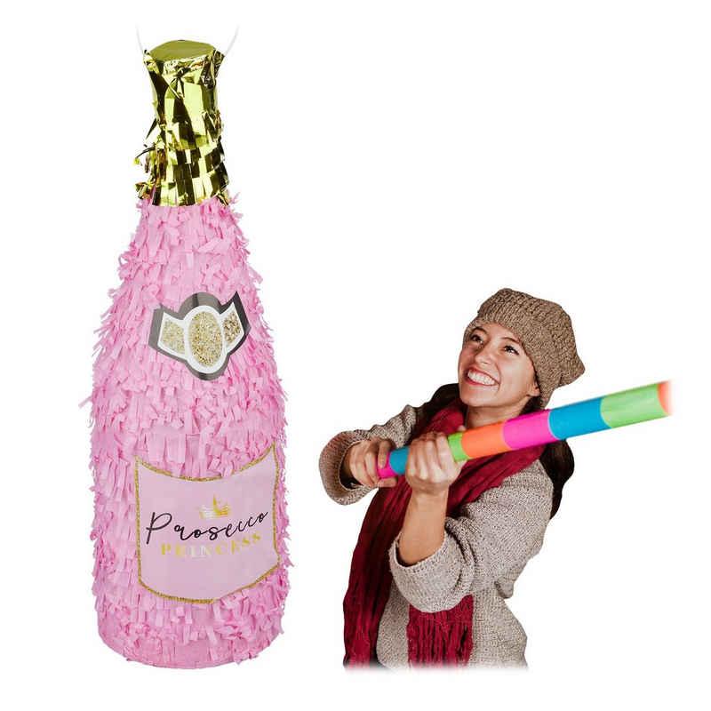 relaxdays Papierdekoration »Pinata Sektflasche«