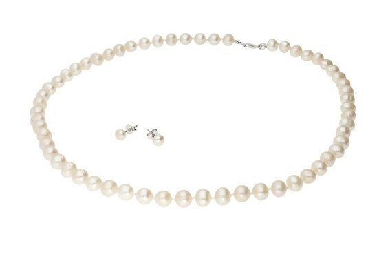 Vivance Kette und Anhänger Set »lustrous pearls«