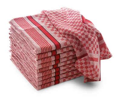 Hometex Premium Textiles Geschirrtuch »Grubentücher, Geschirrtücher, Profi-Küchentücher aus 100% Baumwolle«, (Set, 10-tlg., 10x Grubentuch in 45x90 cm), Hohe Wasseraufnahme, Ideal für Küche, Haushalt und Gastronomie