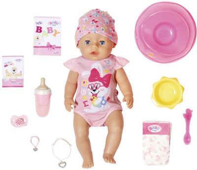 Baby Born Babypuppe »Magic Girl, 43 cm« (Set, 13-tlg), mit 10 lebensechten Funktionen