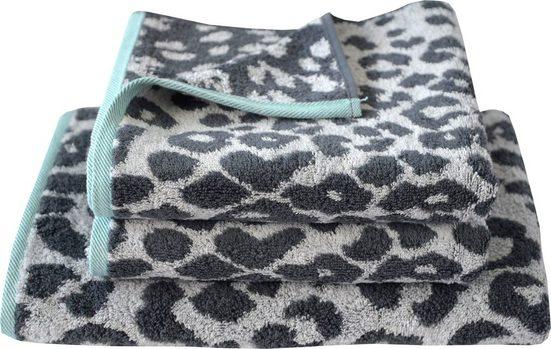 Dyckhoff Handtuch Set »Cool Mint Leo« (Set, 3-tlg), mit Leoparden-Muster